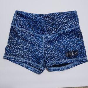 Fleo Bad Bad Girl 3.25 Blue Leopard Shorts